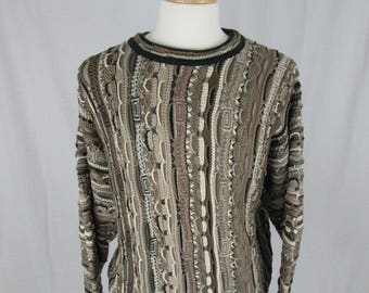 Vintage 90's Tundra Biggie/Cosby style sweater Size Large Made in Canada