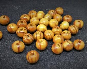 108 wood beads
