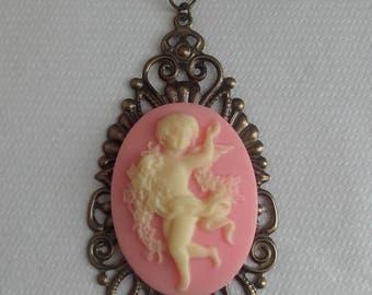 Baroque romantic black cord necklace