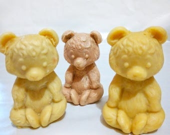 Teddy bear Handmade soap Bear soap Natural soap Organic soap Handcrafted soap Herbal soap Herb soap Cold process soap Kids soaps Fun soaps