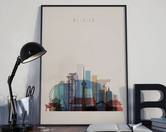 Beijing Art Beijing Watercolor Beijing Multicolor Beijing Wall Art Beijing Wall Decor Beijing Home Decor Beijing Poster Beijing Print Peking