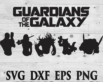 Guardians of galaxy 2 SVG Files Silhouettes DXF Files Cutting files Cricut Silhouette