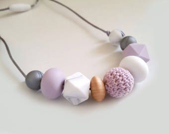 Breastfeeding / teething necklace mama style