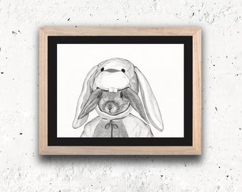 RABBIT Limited Edition Art Print - sheet series limited rabbit