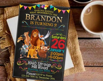 Lion King Lion King Invitation Lion King Party Lion King Birthday Invitations Lion King Invitations Lion King Printable Lion King Birthday