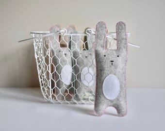 Pastel Bunny Softie | Wool Felt Toy