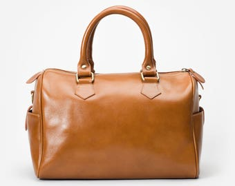 Minimal Handbag in Premium Leather with Removable Shoulder Strap - By Mayer