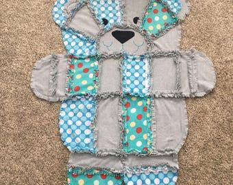 Bubbles Teddy Bear Blanket
