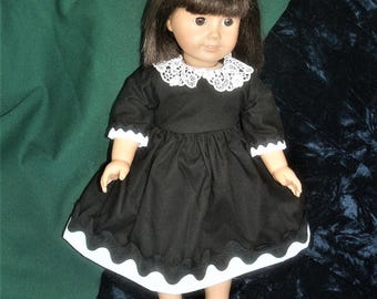 black and white dress for 18 inch doll