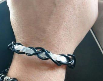 man aluminium bracelet