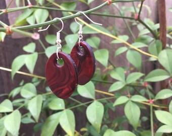 Read rose heart pendant