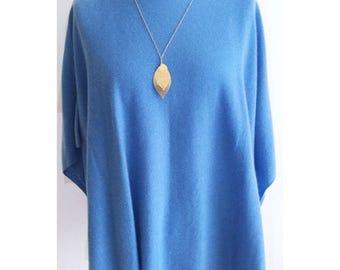 100% Pure Handmade Cashmere T shirt Style Poncho