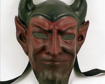 Venetian Devil Mask - Full Face, Handmade from Paper Mache