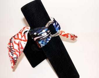 Butterfly Coral Silk Scarf Braclet