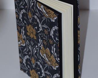 Dark Floral Full-Cloth Bound Blank Book