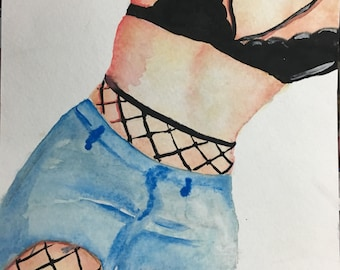 fishnets - original painting