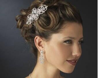 Crystal bridal hair comb