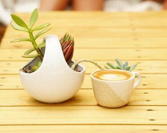 Cinnamon Latte Espresso Cup - Mini Cup - Handmade - Wheel Thrown