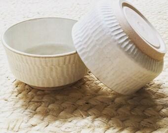 Sandscape Dessert Bowl - Pottery - Hand Carved - Bowl - Small bowl