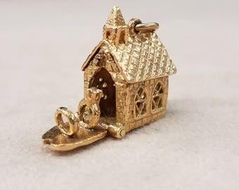 Gold Chapel Charm
