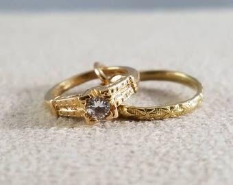 10k yellow gold wedding rings charm