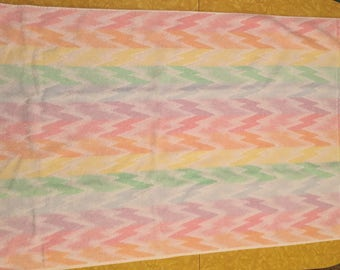 Vintage Rainbow coloured Bath Towel