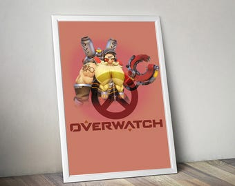 Overwatch TORBJÖRN Poster, Game Poster, Flat Print Design, Digital Printable Poster, Blizzard wall art, Instant Download, game art