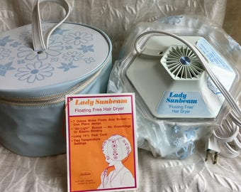 """Vintage 1971 Lady Sunbeam """" Floating Free """" Bubble Hair Dryer Excellent Condition"""