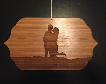 Laser Engraved Wood Portraits