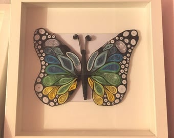 Quilling Butterfly painting