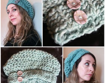 Beanie hat with button