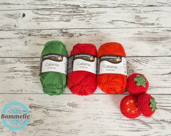Selected yarn for pattern tomato