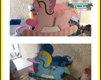 Centerpiece Little horse baby shower