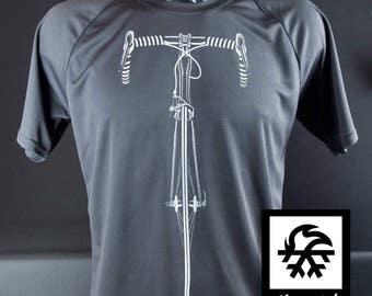 Functional Sports T-shirt bike bicycle bike Illustration by Waveslide