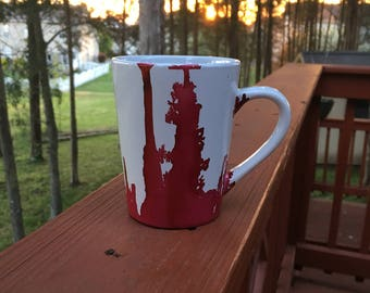 Red mean coffee mug