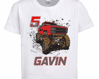 NEW Monster Truck Birthday Shirt