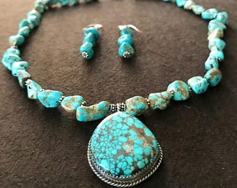 Turqoise Necklace + Earing set