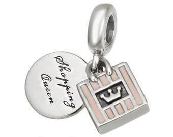 Genuine CHARM SHOPPING QUEEN for Pandora jewelry Silver S925