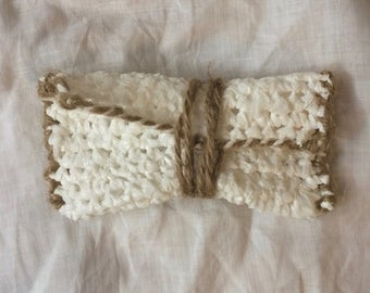 Plastic Bag Crochet Pouch! -WHITE- Recycled/Upcycled