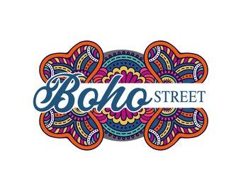 Bohemian Logo, Boho Logo, Vintage Logo, Artistic Logo Design, Royal Logo, Gold Logo, Custom Logo Design, Mandala Logo, Water Logo, Business
