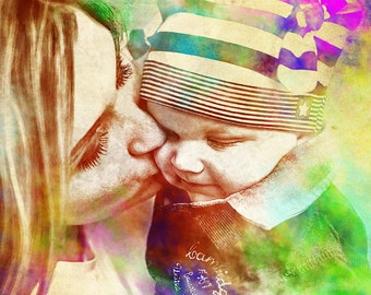 Custom portrait,Portrait,Family portrait, Baby portrait, Kids, Kids portrait, Baby,Painting,Digital art, Gift, Anniversary gifts