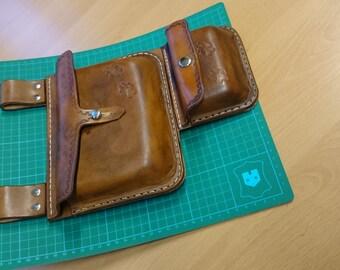 Belt bag, leather