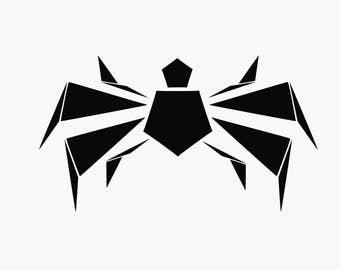 Spider tshirt design SVG/Spider SVG/Geometric spider svg