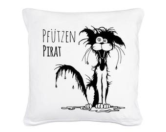Pillow puddles pirate with wet cat including filling (K06)