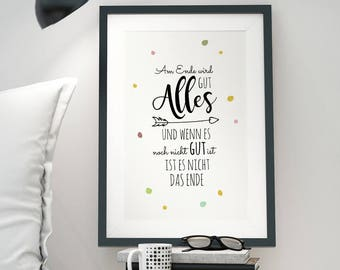 A3 Print Illustration Poster Everything will be good P51