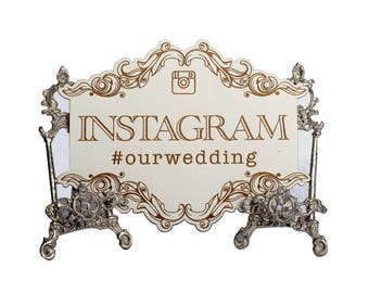 Instagram our wedding Sign