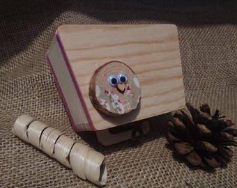 Wooden Owl Trinket Box