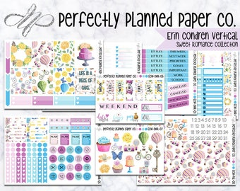 Sweet Romance Collection  // A La Carte // Erin Condren Vertical  and Happy Planner Classic [019]