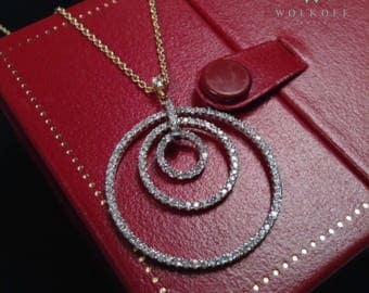 "The ""Emma"": 14K Circle Necklace - 14K Yellow Gold, Cubic Zirconium, Fine Jewelry"