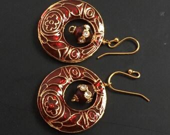 Jewelry, Red Earnings